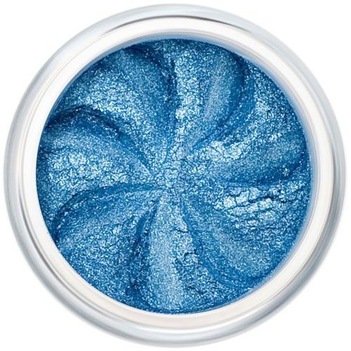 Lily Lolo Blue Lagoon Eyes: Vegan Friendly, Gluten Free. A sparkly medium blue mineral eyeshadow.