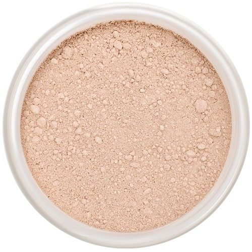 Lily Lolo China Doll Mineral Foundation: Gluten free, vegan. A very light foundation with balanced undertones.  Suitable for light and very light skin tones. Ideal if you are in between Porcelain and Blondie shades.