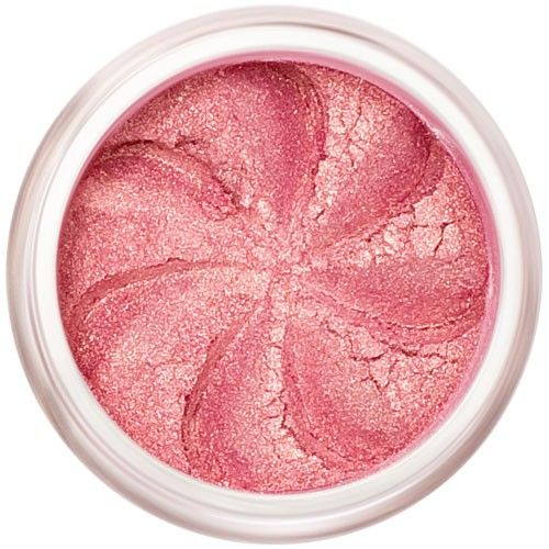 Lily Lolo Golden Pink Eyes: Gluten Free. An ultra shimmery multi tone mineral eyeshadow, it looks pink but shines gold when it catches the light.