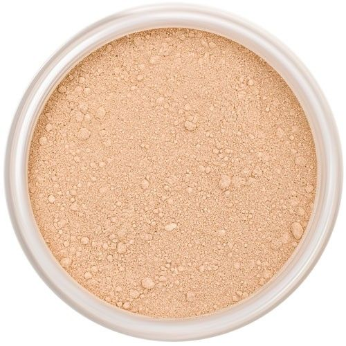 Lily Lolo In The Buff Mineral Foundation: Gluten free, vegan. A light-medium foundation shade with balanced undertones; one of our bestselling shades.