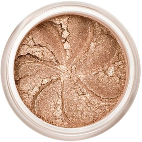 Lily Lolo Sticky Toffee Eyes: Vegan Friendly, Gluten Free. A shimmery light beige mineral eyeshadow. A lovely neutral brown shade, perfect for the natural look.