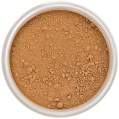 Lily Lolo Hot Chocolate Mineral Foundation: Gluten free, vegan. A deep foundation shade with warm undertones.