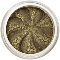 Lily Lolo Khaki Sparkle Eyes: Vegan Friendly, Gluten Free. A deep khaki mineral eyeshadow with a pretty sparkle.